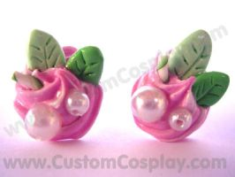 Pink and mint sweet earrings by The-Cute-Storm