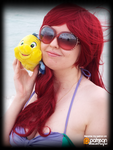 Ariel Chilling with Flounder! (Cosplay) by KrazyKari