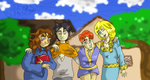 Attempted Group Picture by SquirrelKitty76