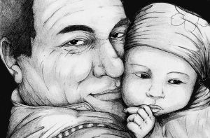 dad and my baby by Encre-Age