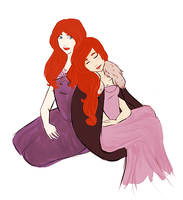 Catelyn and Sansa by imperially