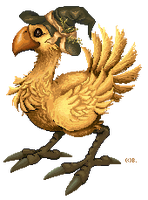 pixel - Halloween Chocobo by barananduen