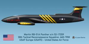 USAF Martin RB-51A Panther - Europe by comradeloganov