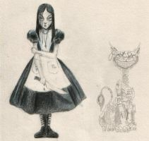 Alice and Cheshire Cat by lost-chocolate