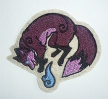 FOR SALE - Magical fox patch - GLITTER edition by goiku