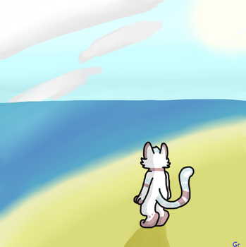 Standing At The Edge Of The Water by gruffenblue