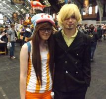 Chopper and sanji cosplay at mcm by IamNasher