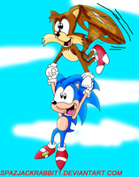 Classic Sonic and Tails by SpazJackrabbit1