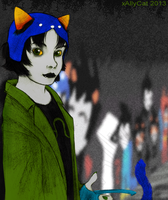 Nepeta at the Shipping Wall by xAllyCat