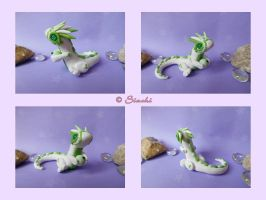 Dragon white and green by Siachi