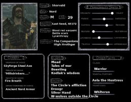Character Sheet: Skorvald by CharlieHotel301