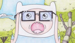 Finn in the Glasses of Nerdicon by sophiemai