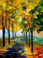 Path of sunbeams by Leonid Afremov by Leonidafremov