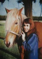 woman and horse plus tutorial by PASTELIZATOR