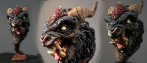 foo dog close up 2 by Kahiah