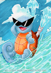 Squirtle Used Hydro Pump! by wondering-souls