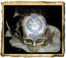Pictish Pentacle Skull by grimdeva