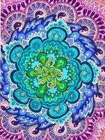 Mystic Mandala by PaintMyWorldRainbow