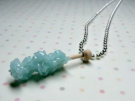 Rock Candy Necklace in Blue by kawaiibuddies