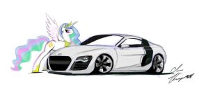 The royal R8 by VehicularBrony