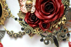 Versailles Rose Necklace 1 Detail 1 by Necrosarium