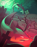 Ghost Sharks in the Graveyard by Arkaios