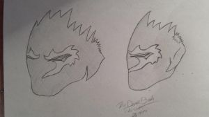 DW mask sketches by TheDownbreakWarrior