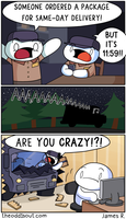 Next Day Delivery by theodd1soutcomic
