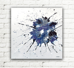 Abstract Art Blue Painting by hjmart