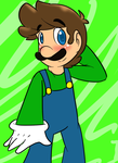 omg it a luigi with no hat D: by MariobrosYaoiFan12