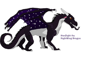 Starflight the NightWing Dragon (Complete) by cutedog132