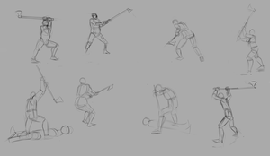 2 handed axe poses by TimothyWilson