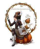 Steampumpkin lady by Veldalis