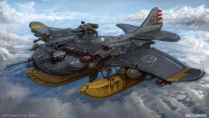 USA Combat water plane by MichalKus