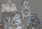 Sketch Dump 30: Monster High Chalk Doodles by tayba