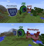 Youtuber Logos in Minecraft by PaintyHeart