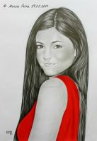 Drawing - 'Kylie Jenner'. by MarinaPalme