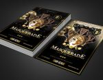 Masquerade Mardi Gras Party Flyer Template by SanGraphics