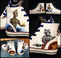 GuardiansOfTheGalaxy-Shoe-Paint by The30thOfFebruary