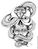 Snake and Skull by hassified