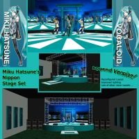 MMD Miku Hatsune Nippon Stage Set by Trackdancer