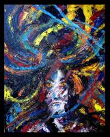 Abstract Expressionist Self by julieloveart