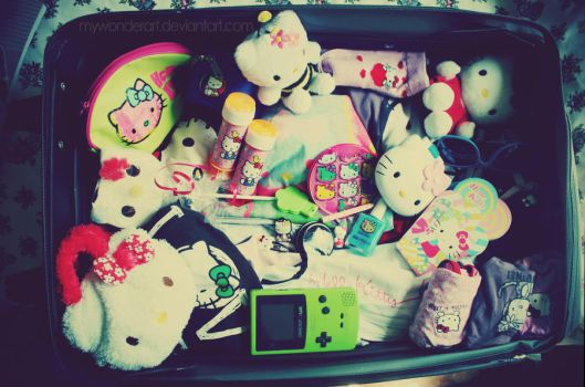 Packing For Kittyland by mywonderart