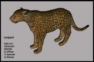 Leopard re-textured by CaronCC