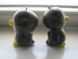 Polymer Clay Penguins- Side View by CraftyGirl27