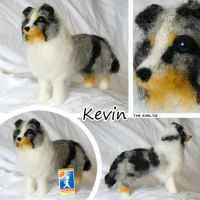 Needle felted sheltie by Cemina