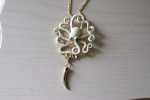 Octopus Totem Necklace by foowahu-etsy