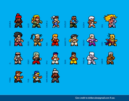 Street Fighter 3 Sprites by dollarcube