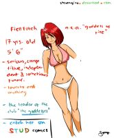 comic character: fiell by stevengico