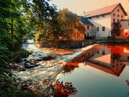 The river, a country house and reflections by patrickjobst